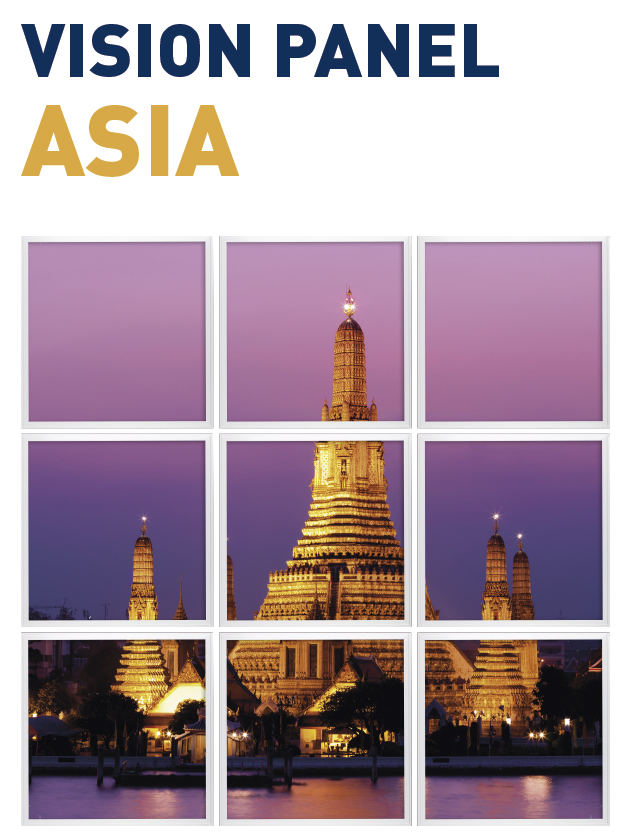 Vision Panel led Ambient modelo asia