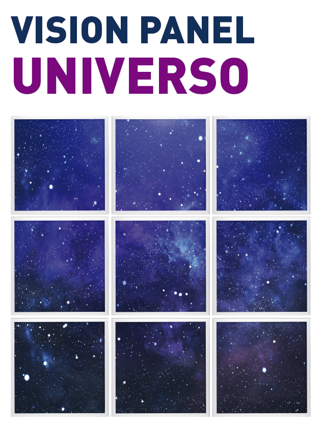 Vision Panel led Ambient modelo universo